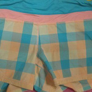 Lululemon plaid shorts GUC size 10